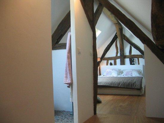 Sainte-Colombe-pres-Vernon, Francja: Chambre du Lilas