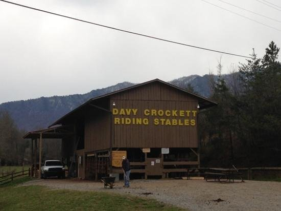 Davy Crockett Riding Stables: Stable for horses