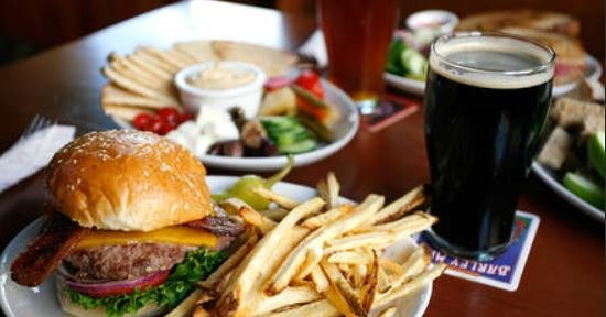 John Barleycorns: Burger hummus and beer