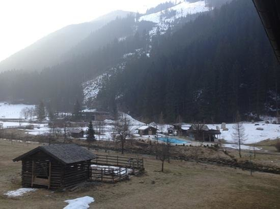 Hoteldorf Gruner Baum: view from our room