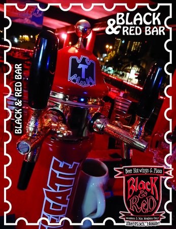 Black and Red Bar: Cerveza de barril