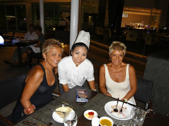 Chatrium Hotel Riverside Bangkok: Miss Komkaew Palita responsible for the wonderful grilled