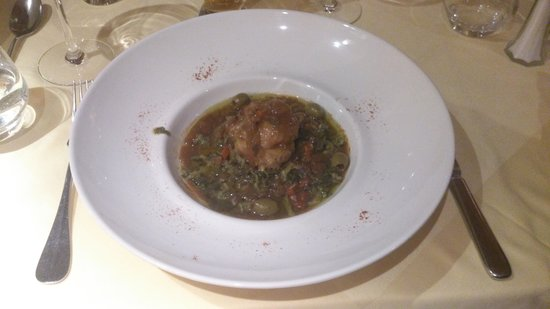 Hotel Mercure - Les Arcs 1800 : chicken stuffed with something i still dont know