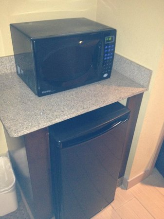 Best Western Plus Greensboro/Coliseum Area: fridge and microwave