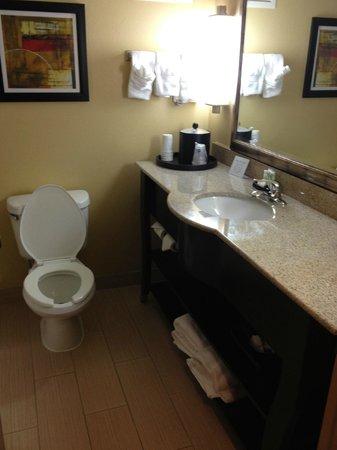 Best Western Plus Greensboro/Coliseum Area: bathroom has coffee maker (not shown)