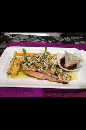 Etoile des mers: pavé de saumon du chef