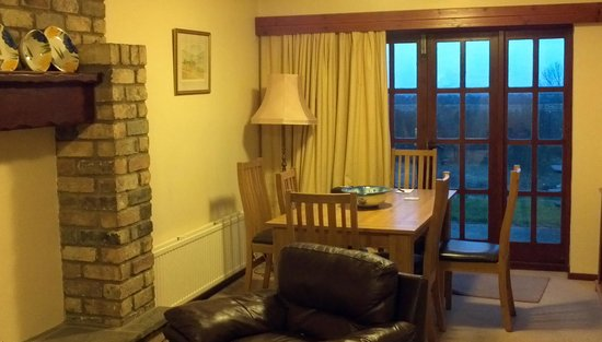 Rudstone Walk: The dining room and view from our cottage.