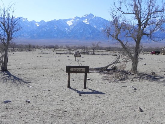 Manzanar National Historic Site: Markers where the buildings were