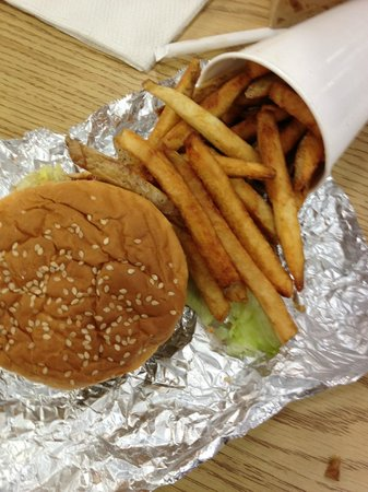 Five Guys: Little Burger with Little Cajun Fries