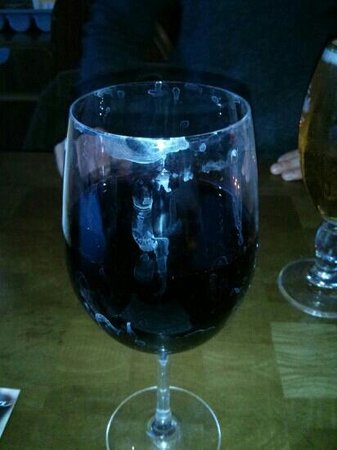 The Slug and Lettuce: Filthy wine glass