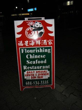 Flourishing Restaurant : Sign board