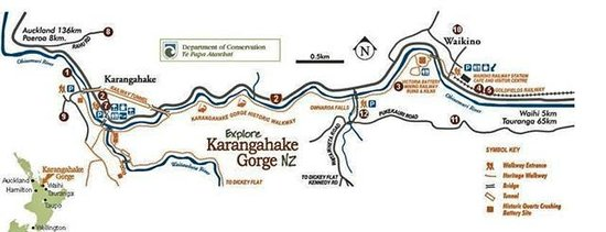 Karangahake Gorge: Map of walks