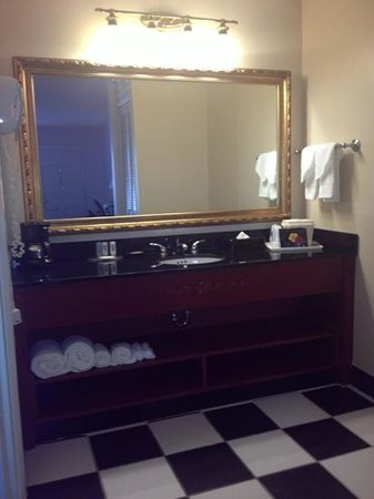 Quality Inn & Suites Maison St. Charles: vanity area. very clean and beautiful!