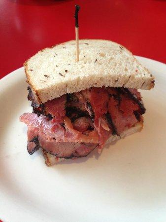 Artie's Delicatessen: Artie's Roumanian Pastrami ON Rye bread ~ 1/2 Sandwich!