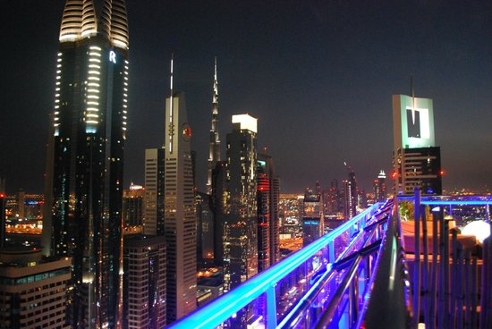 Four Points by Sheraton Sheikh Zayed Road, Dubai : From the Roof of the Hotel with the  Burj Khalifa in the rear