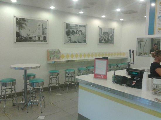 The Burger Place: 50's design