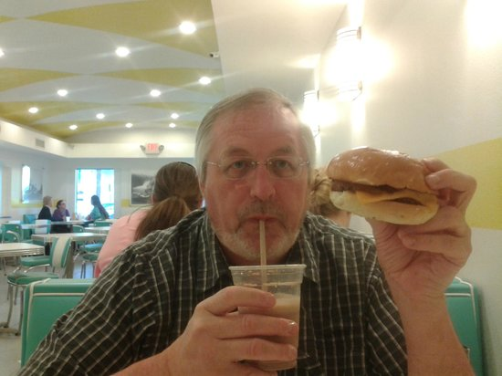 The Burger Place: My burger and Malted Chocolate shake