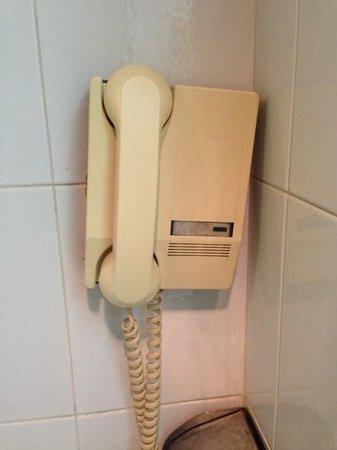 Beijing Scitech Hotel: restroom extension phone.