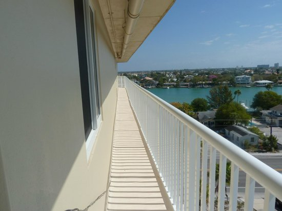 Penthouse Beach Club: View from Penthouse porch - top floor available to guests