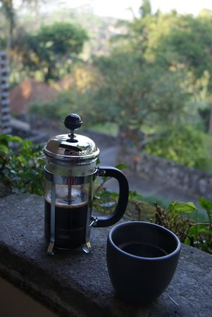 Alila Ubud : our morning coffee
