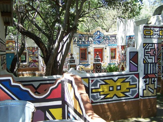 Lesedi Cultural Village : Ndebele rooms for guests