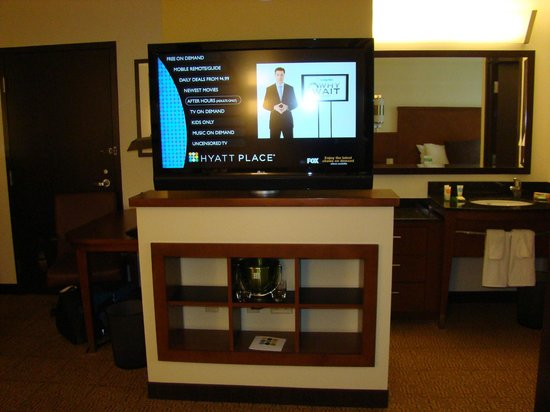 Hyatt Place Ft. Lauderdale Airport & Cruise Port: Nice flat panel TV
