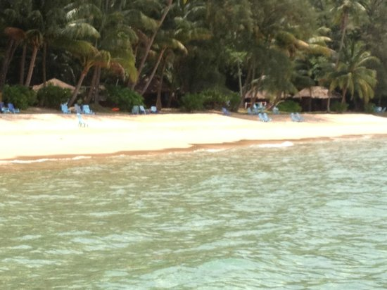 Sea Gypsy Village Resort & Dive Base: view of the resort from the boat