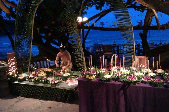 Ao Prao Resort: loi kratong buffet