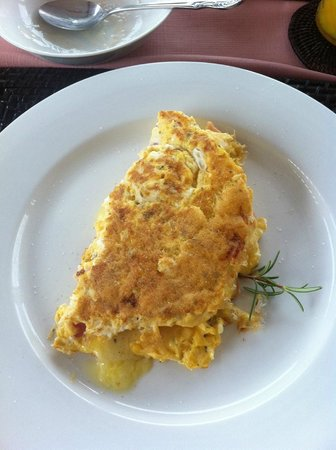 Albany View Street Lodge Bed & Breakfast : Margaret's spectacular omlette