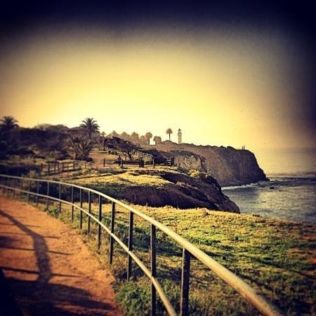 Point Vicente Lighthouse: Palos Verdes trail overlooking the Light House