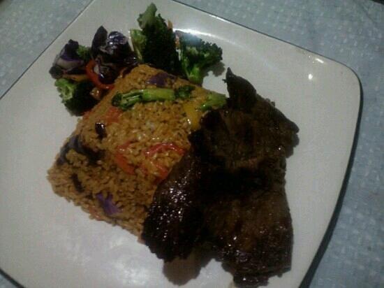 Pura Vida: arroz del rey con churrasco