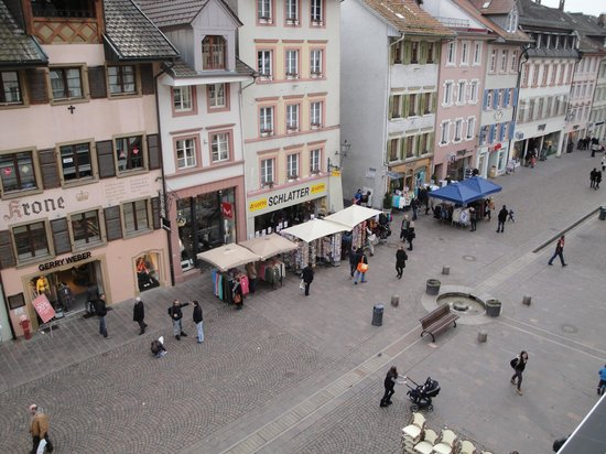 Waldshuter Hof: View from room #302 on the pedestrian zone