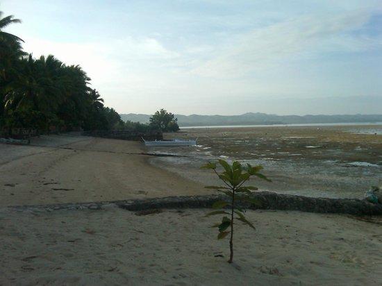 San Remigio Beach Club Hotel: The beach at low tide