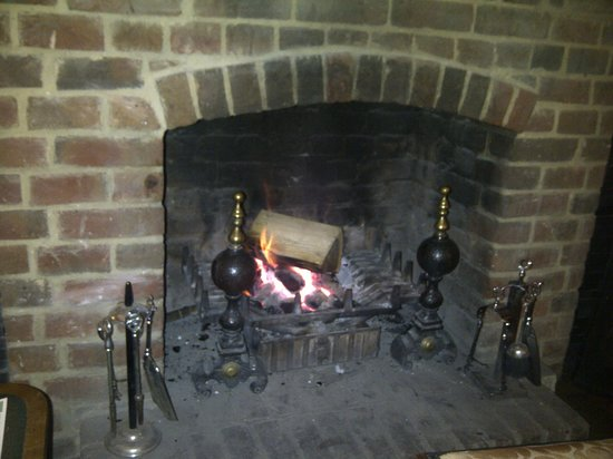 The Minster Arms: Roaring fire