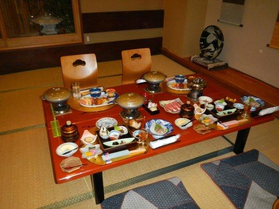 Senshinkan Matsuya: Dining table for our family- Take Menu