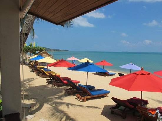 Hacienda Beach Resort: Vue du Bungalow sur la plage