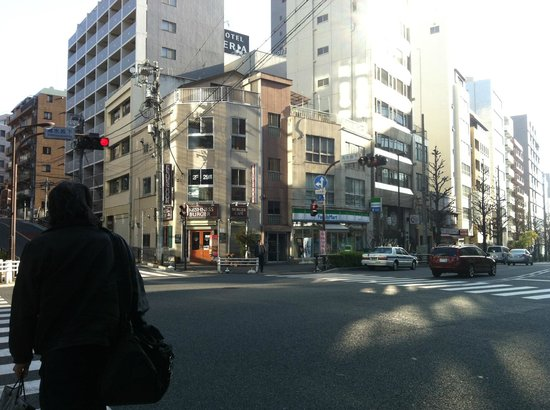 Ochanomizu St . Hills Hotel: View from across the street