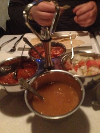 The Balti: lush poppadoms and dips