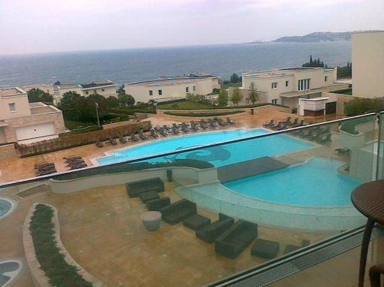 Kempinski Hotel Adriatic Istria Croatia: Finistre tuttovetro con ampio panorama