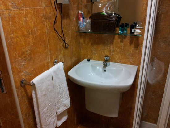Botanico Hotel: Teeny tiny bathroom