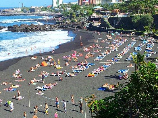 black sand foto di playa jardin puerto de la cruz