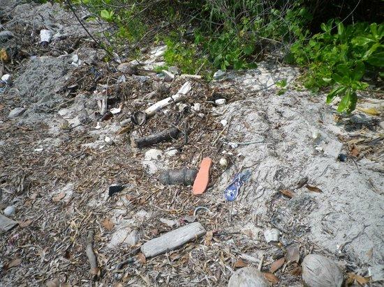 Mutiara Beach Guesthouse: dechets