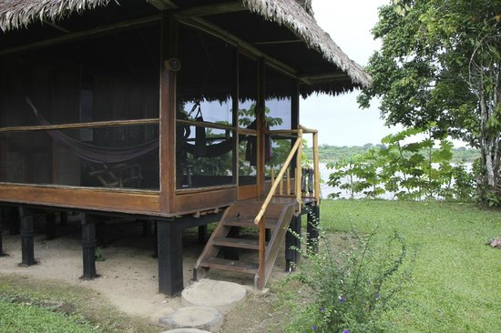 Inkaterra Reserva Amazonica: view of our cabana 13 on the river