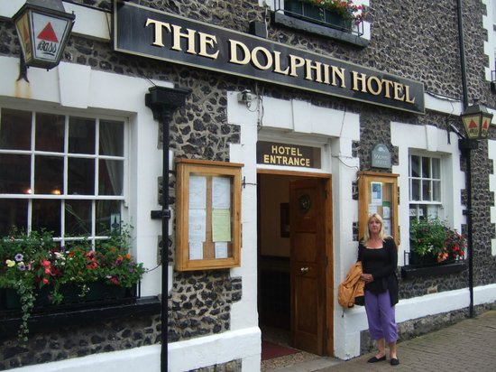 The Dolphin Hotel: the front enterance