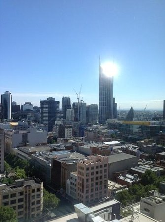 Citadines on Bourke Melbourne: our view from room 2107