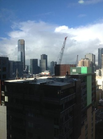 Citadines on Bourke Melbourne: view from 2107 with Eureka skytower in the distance