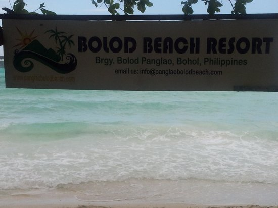 Bolod Beach Resort: Signage