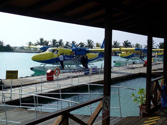 Kuramathi Island Resort: Aéroport de Malé, côté hydravions