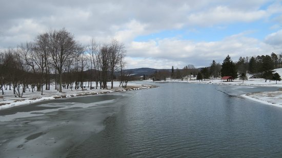 Mansion District Inn Bed & Breakfast: Frozen river at Smethport