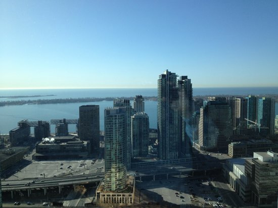 The Westin Harbour Castle: View of the Westin and Lake Ontario from an adjacent property